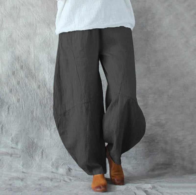 Loose Linen Pocket Bloom Pants
