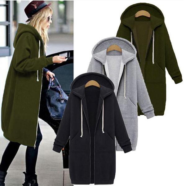 Women Casual Plus Size Outerwear Coats
