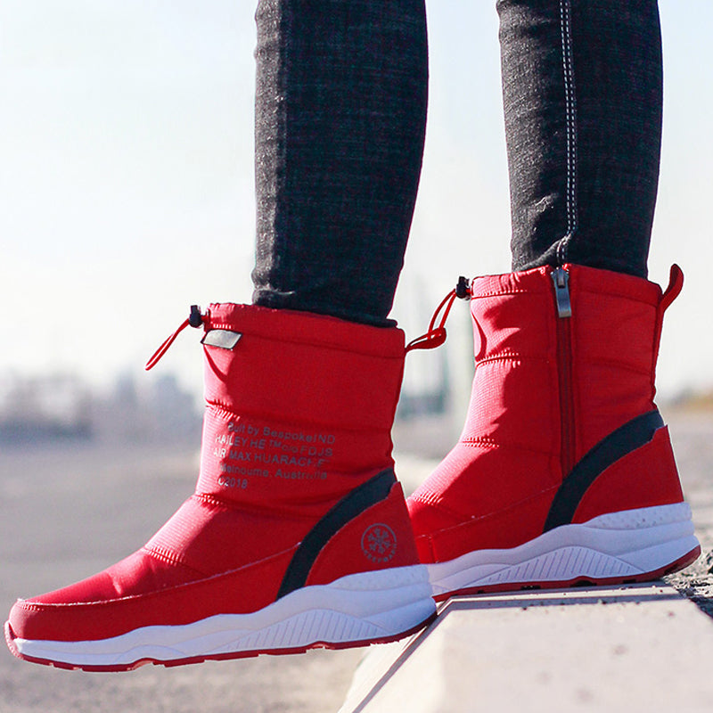 Women Winter Non-Slip Waterproof Snow Thick Plush Ankle Boots