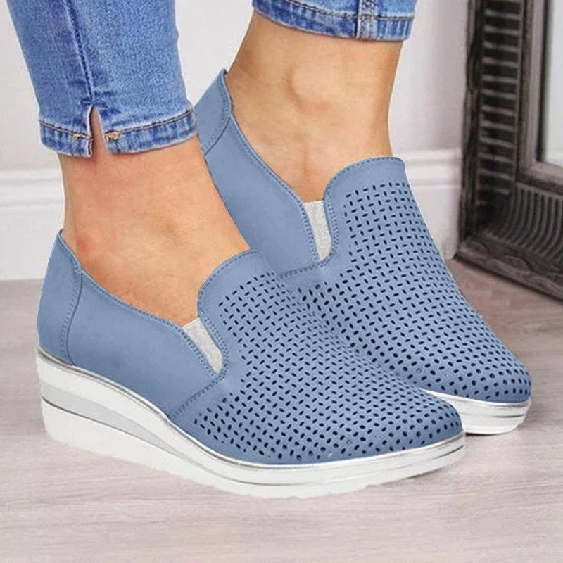 Summer Female Women's Casual Rocking Shoes Wedge Heel Sneakers