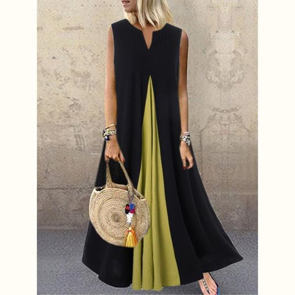 Sleeveless Plus Sizes Maxi Dresses