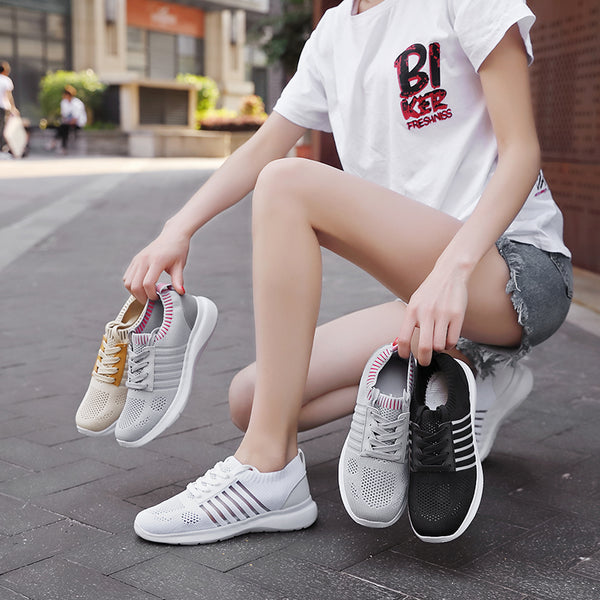 Fashion Woven Hollow Breathable Casual Sneakers