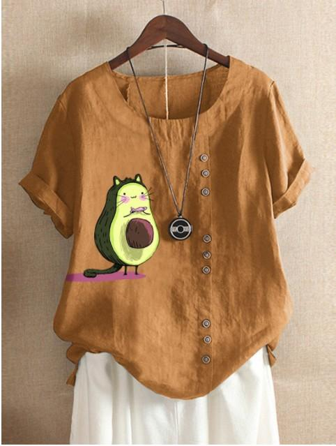 Summer Printed Loose Cartoon T-shirts