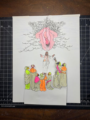 HE IS RISEN ORIGINAL DRAWING ANIMATION PIECES
