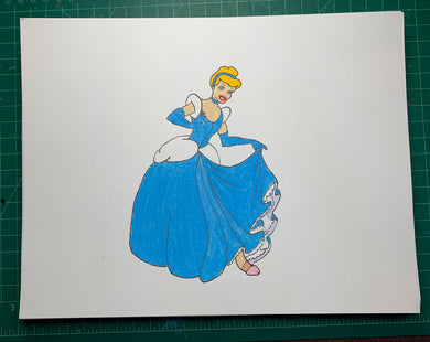 CINDERELLAS PENIS Original Drawing