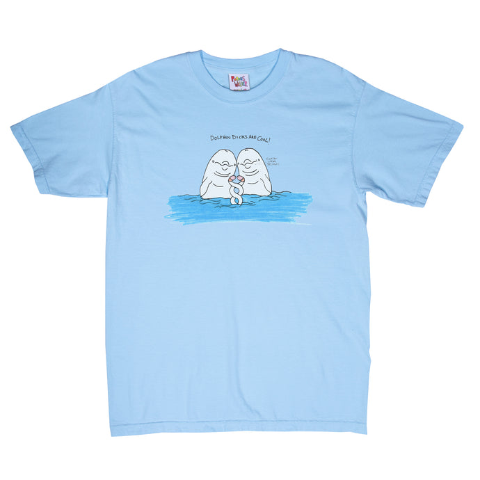 Dolphin Tee (Light Blue)