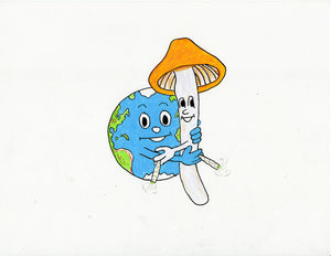 SET OF 4 DIFFERENT EARTH LOVES...ORIGINAL DRAWINGS