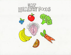 EAT HEALTHY (FOODS) ORIGINAL DRAWING