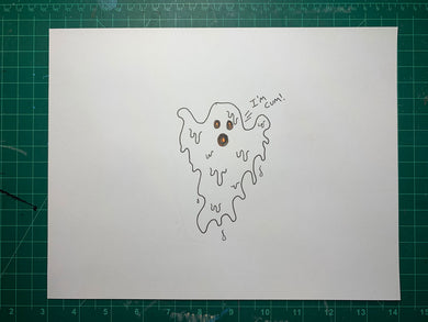 GHOST CUM Original Drawing
