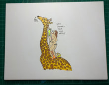 Load image into Gallery viewer, WHY GIRAFFES HAVE LONG NECKS Original Drawing