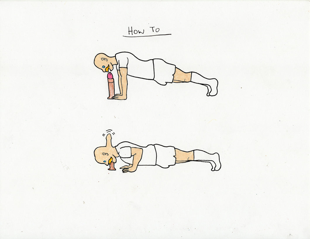 HOW TO DO A PUSHUP ORIGINAL DRAWING