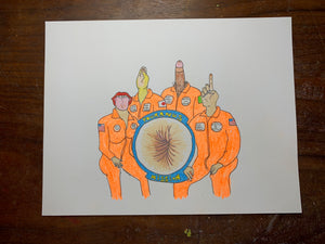 Assstronauts Original Drawing