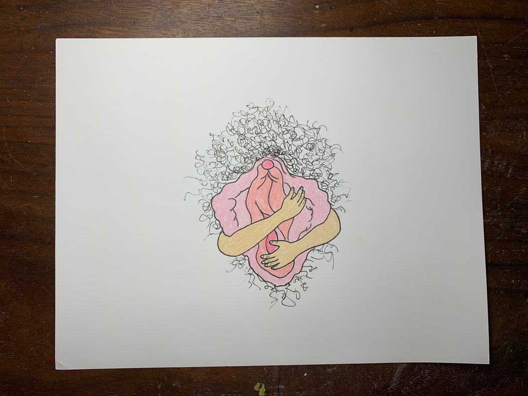Vagina Hug Original Drawing
