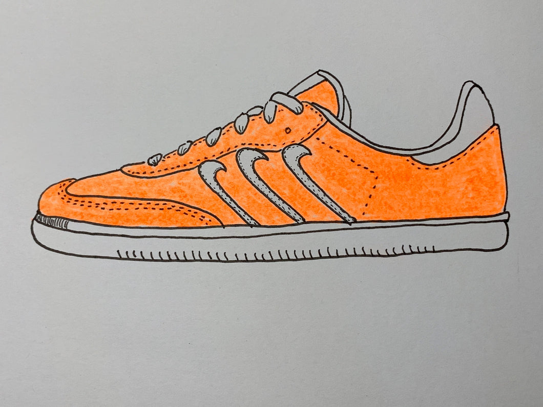 Nike Samba (Eric Koston-Staba Model) Original Drawing