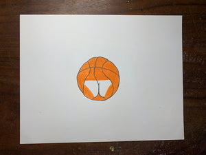 Bassketball Original Drawings (2 drawing set)