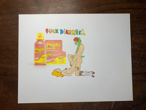 Fuck Diarrhea Ad Original Drawing