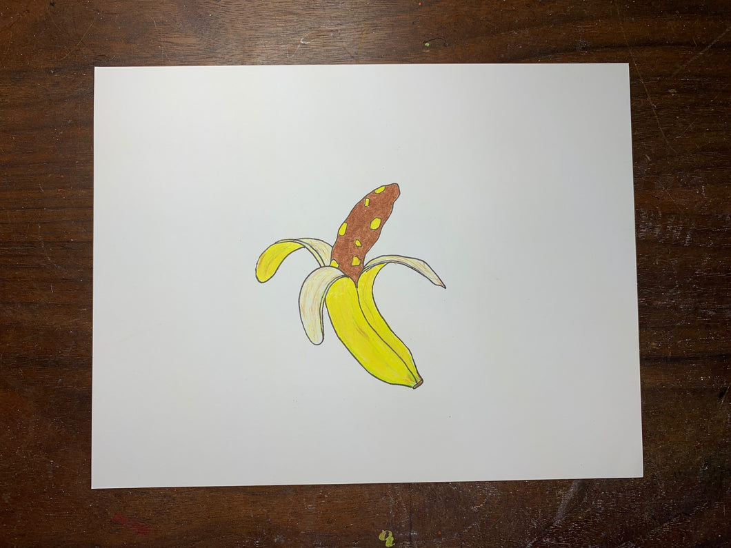 Normal Banana Original Drawing