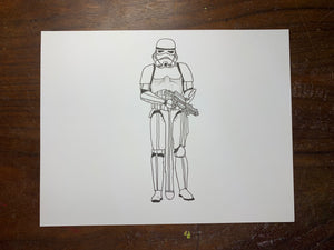 Stormtrooper Original Drawing