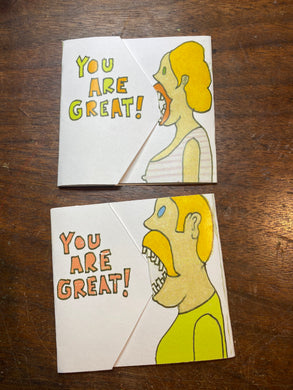 YOU ARE GREAT AT EATING BIG FAT TURDS CARDS