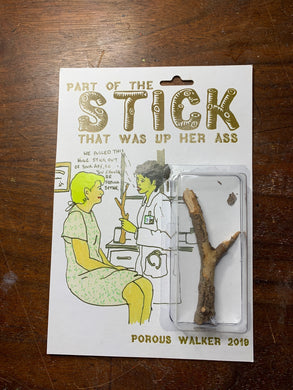 PART OF THE STICK THAT WAS UP HER ASS ACTION FIGURE