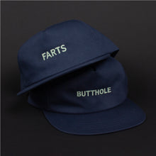 Load image into Gallery viewer, GLOW IN THE DARK FARTS Snapback Hat (Navy)
