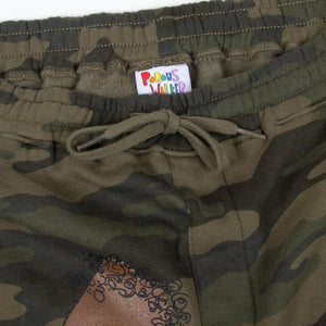 Camo Long Dong Sweatshorts (Chocolate)