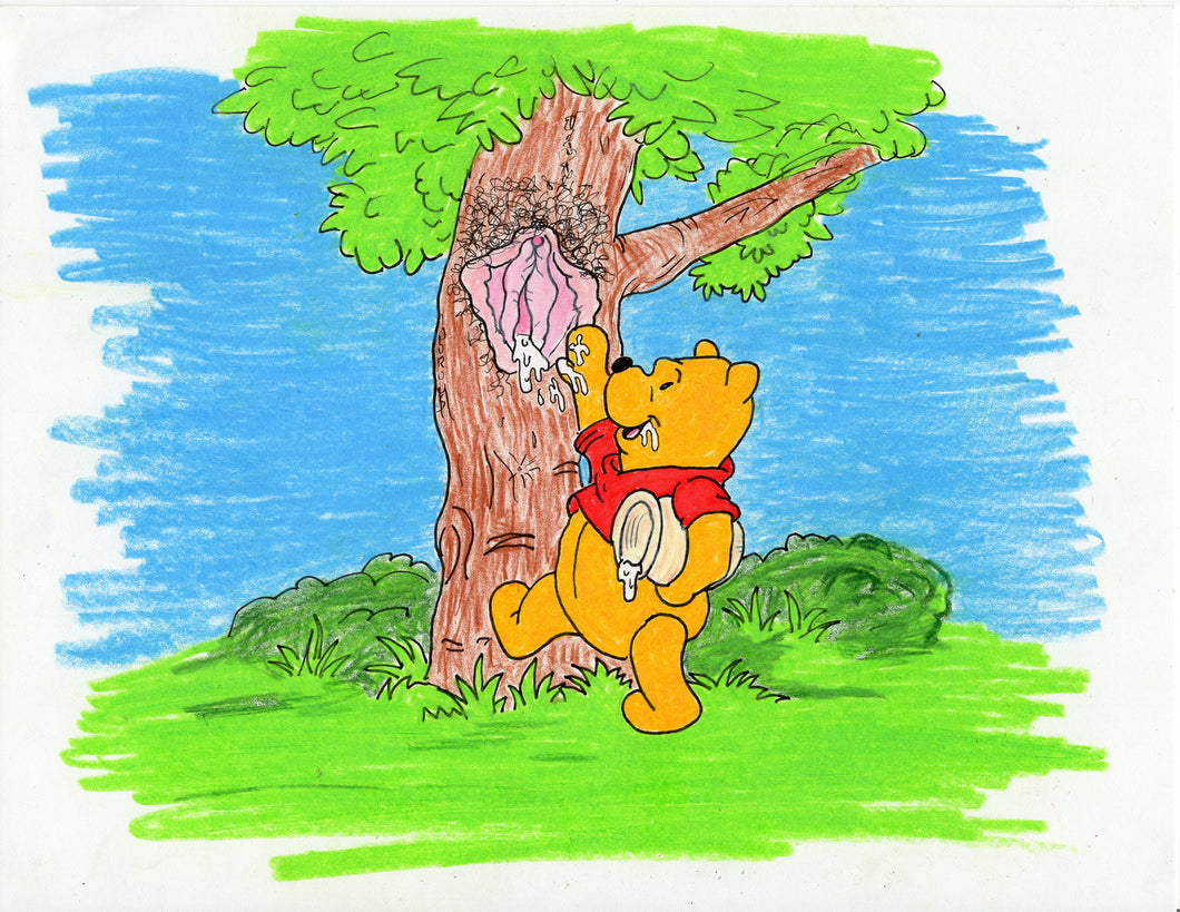 POOH HONEY TREE ORIGINAL DRAWING