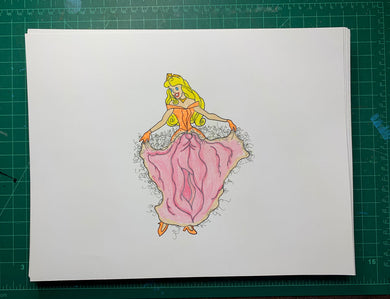 PRINCESS 2 Original Drawing