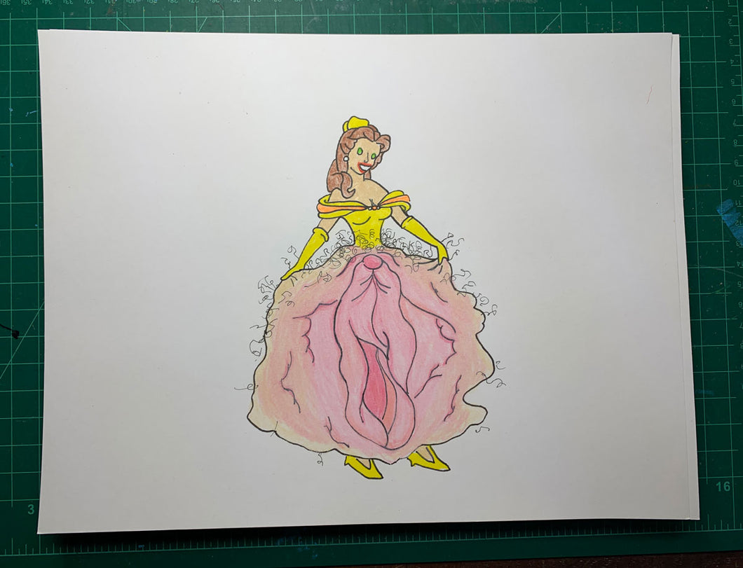PRINCESS 3 Original Drawing