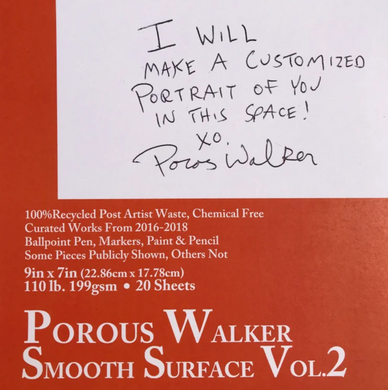 Porous Walker Smooth Surface book Vol. 2 plus FREE pair of Orange Dongz Sox