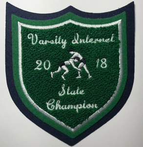 VARSITY INTERNET STATE CHAMPION CHENILLE PATCH