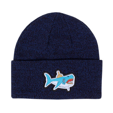 Shark Attack Beanie (Blue Speckle)