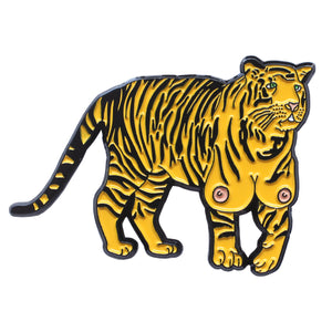 TIGER TITZ ENAMEL PIN & STICKER