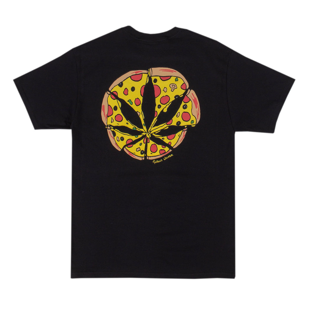 Pizza Leaf Tee (Black)
