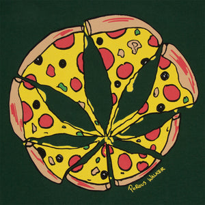 Pizza Leaf Tee (Forest Green)