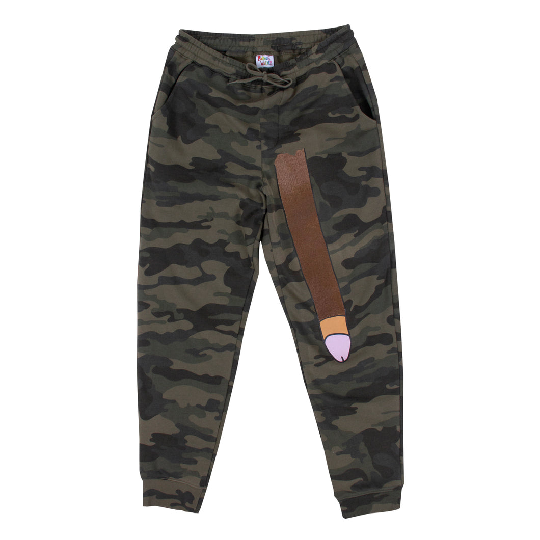 Long Dong Sweatpants (Camo Chocolate) plus free dongz sox