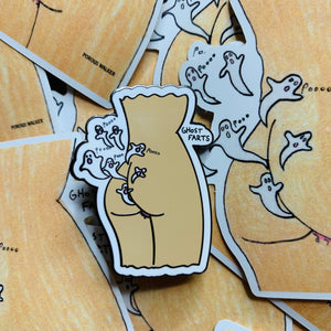 GHOST FARTS LIMITED EDITION ENAMEL PIN & PRINT