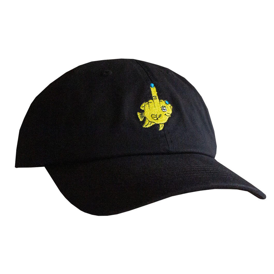 Fishy Dad Hat (Black)