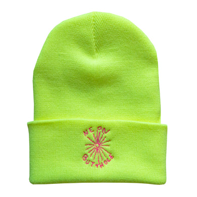Neon Butthole Beanie (Neon Yellow)