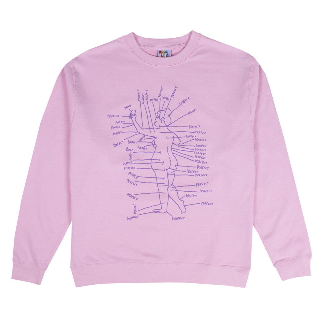 PERFECT Crewneck Sweatshirt (Pink)