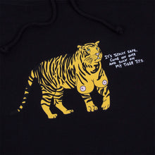 Load image into Gallery viewer, Tiger Titz Hoodie (Black) plus free enamel pin