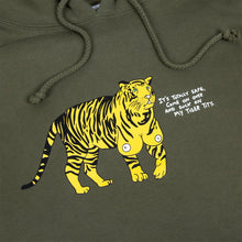 Load image into Gallery viewer, Tiger Titz Hoodie (Army) plus free enamel pin