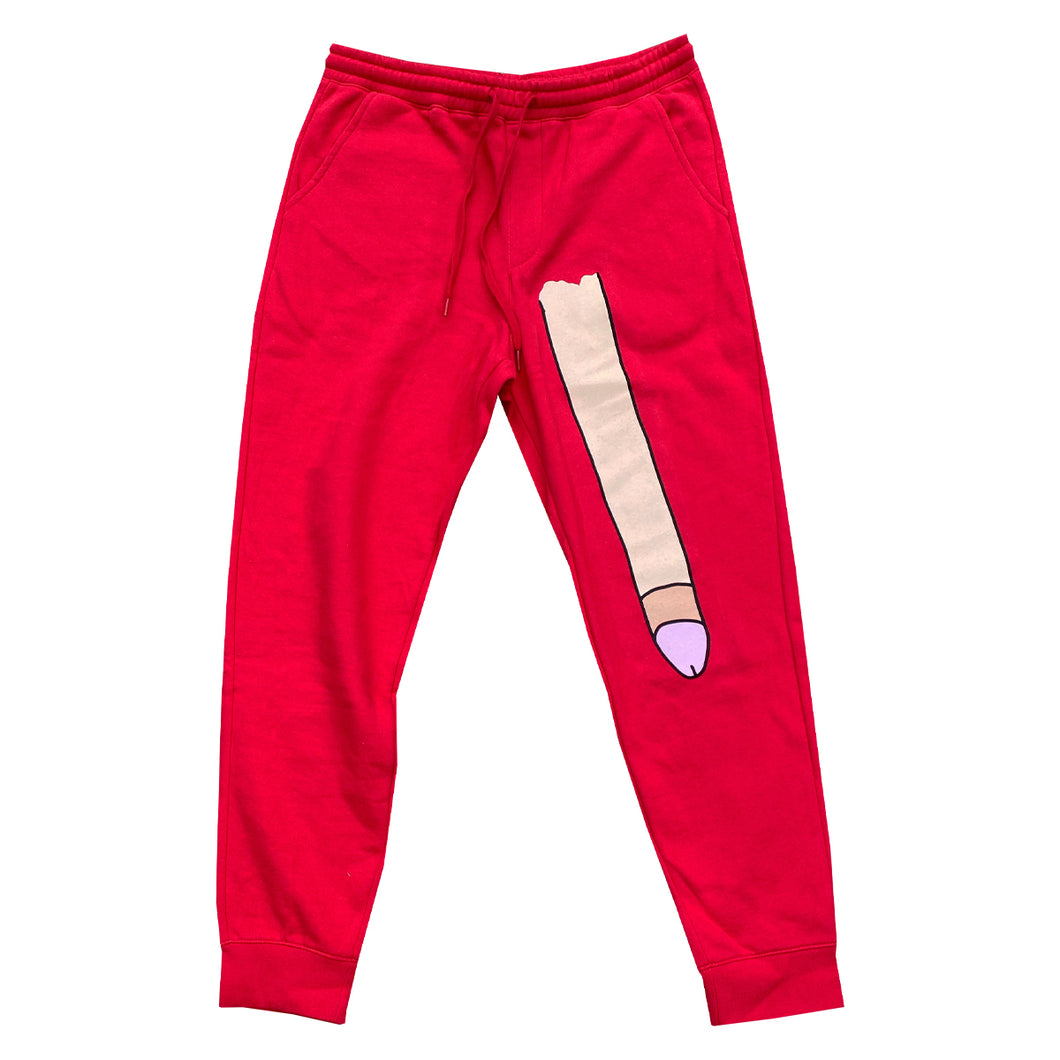 Long Dong Sweatpants (Red)
