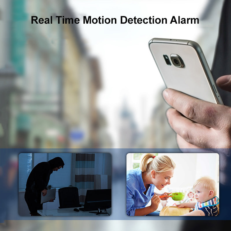 Night Vision 1080P HD Spy Camera Speaker Wireless Phone Charger with Motion Detection