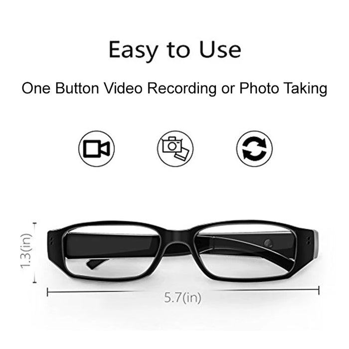 1080p HD Hidden Camera Eye Glasses with Touch Technology Recording
