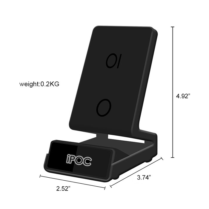 Night Vision 960P HD Spy Camera Phone Wireless Charger Stand