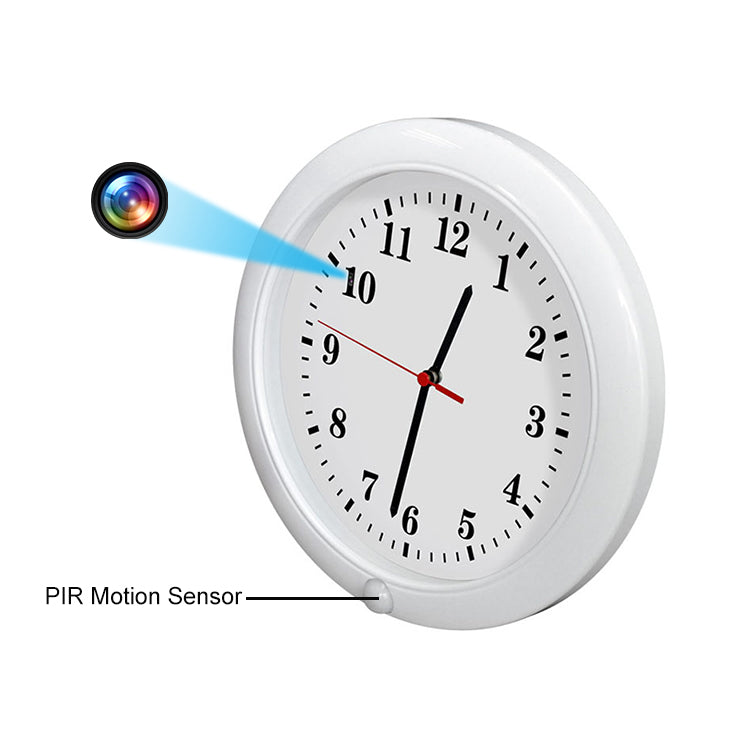 1080P HD Spy Camera Wall Clock with Motion Detection