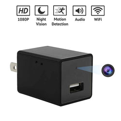 WiFi 1080p HD Night Vision Mini Spy Camera Phone Charger