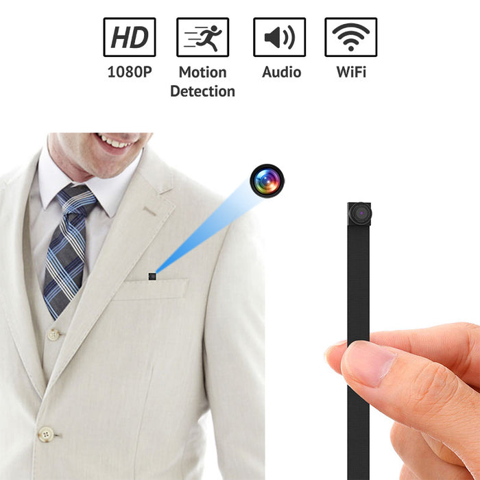 1080p HD WiFi Spy Camera Mini Nail-sized DIY Pocket with Motion Detection