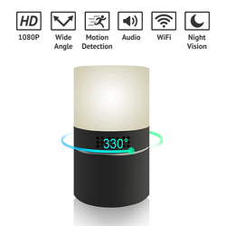 330° Lens Wifi 1080P HD Lamp Spy Camera Night Vision Motion Detection